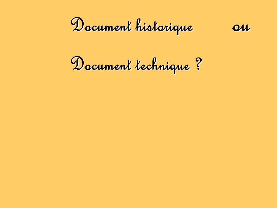 Document historique ou