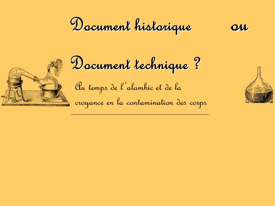 Document historique ou Document technique
