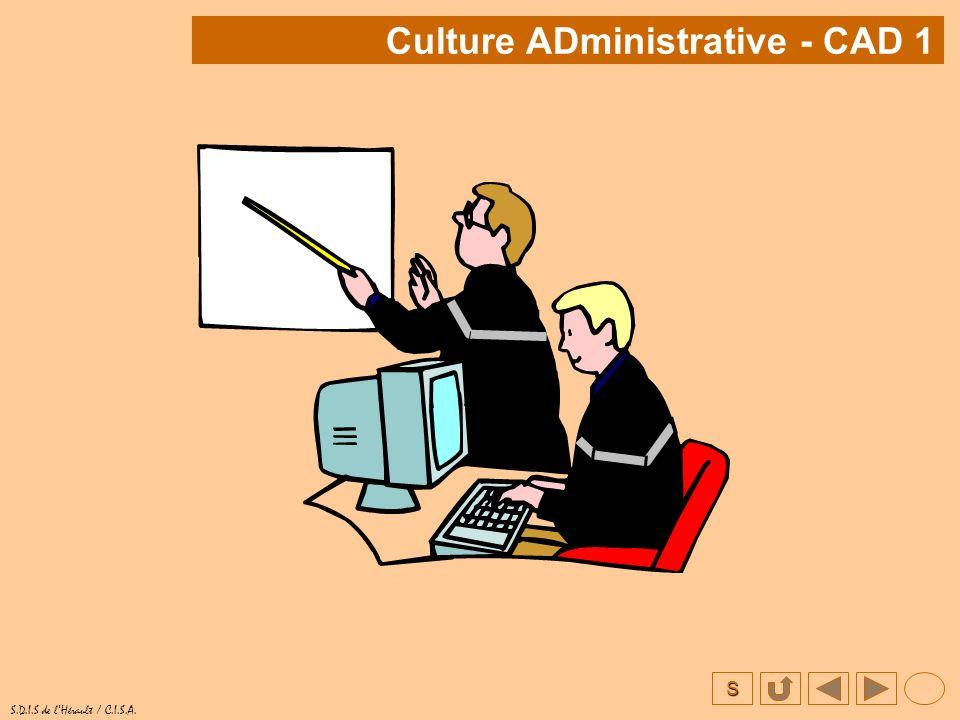 Culture ADministrative - CAD 1