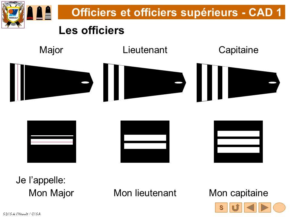 Officiers et officiers supérieurs - CAD 1