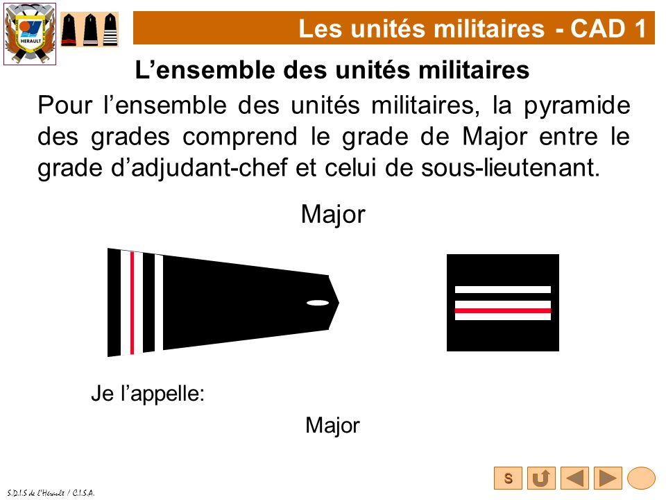 Les unités militaires - CAD 1