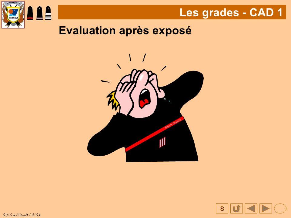 Evaluation après exposé