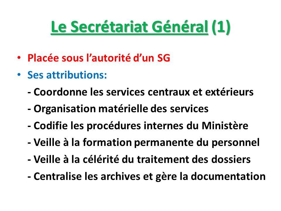 Le Secrétariat Général (1)