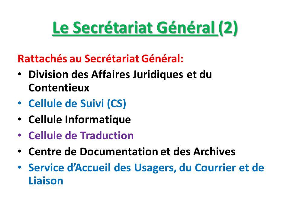 Le Secrétariat Général (2)