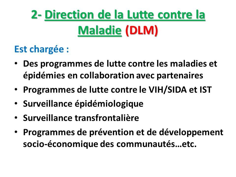 2- Direction de la Lutte contre la Maladie (DLM)