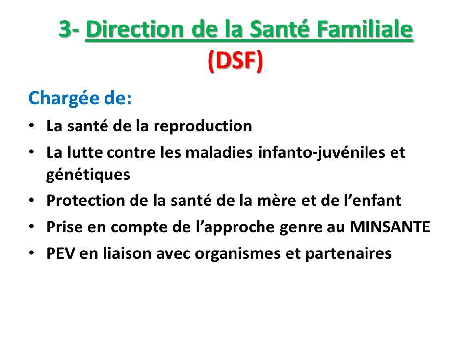 3- Direction de la Santé Familiale (DSF)