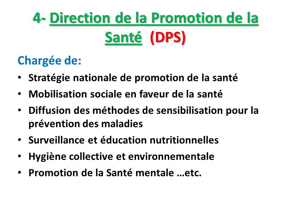 4- Direction de la Promotion de la Santé (DPS)