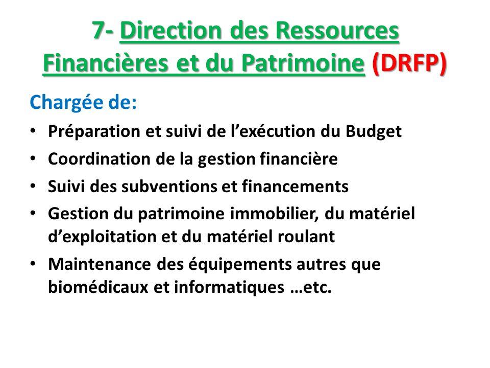 7- Direction des Ressources Financières et du Patrimoine (DRFP)