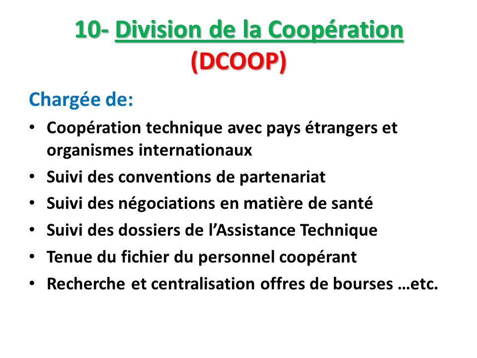10- Division de la Coopération (DCOOP)