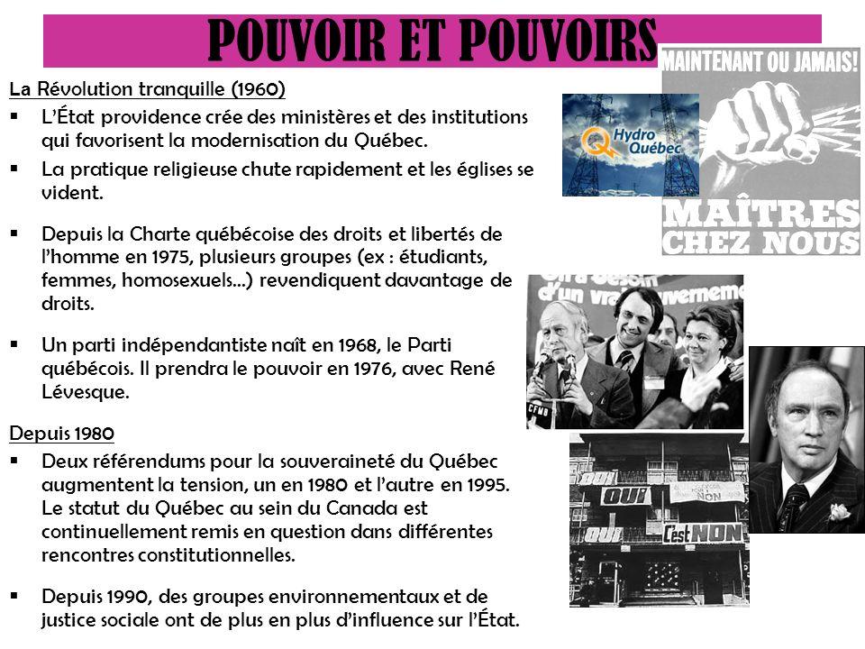 POUVOIR ET POUVOIRS La Révolution tranquille (1960)
