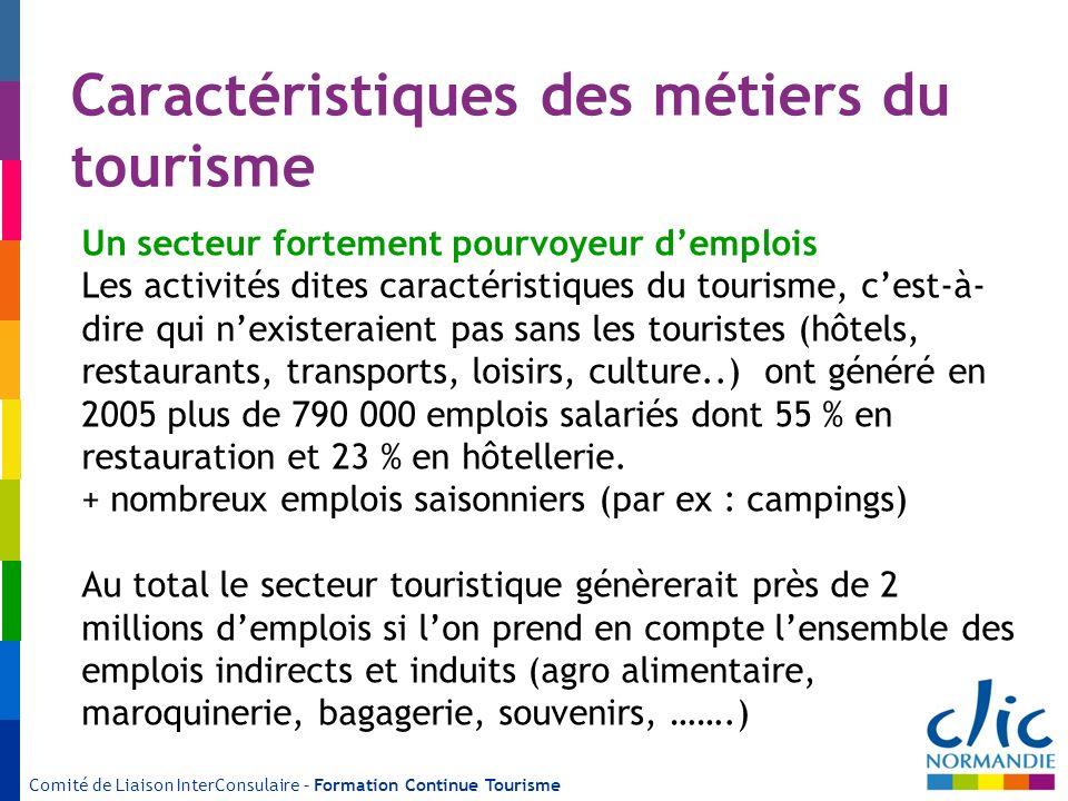 Caractéristiques des métiers du tourisme