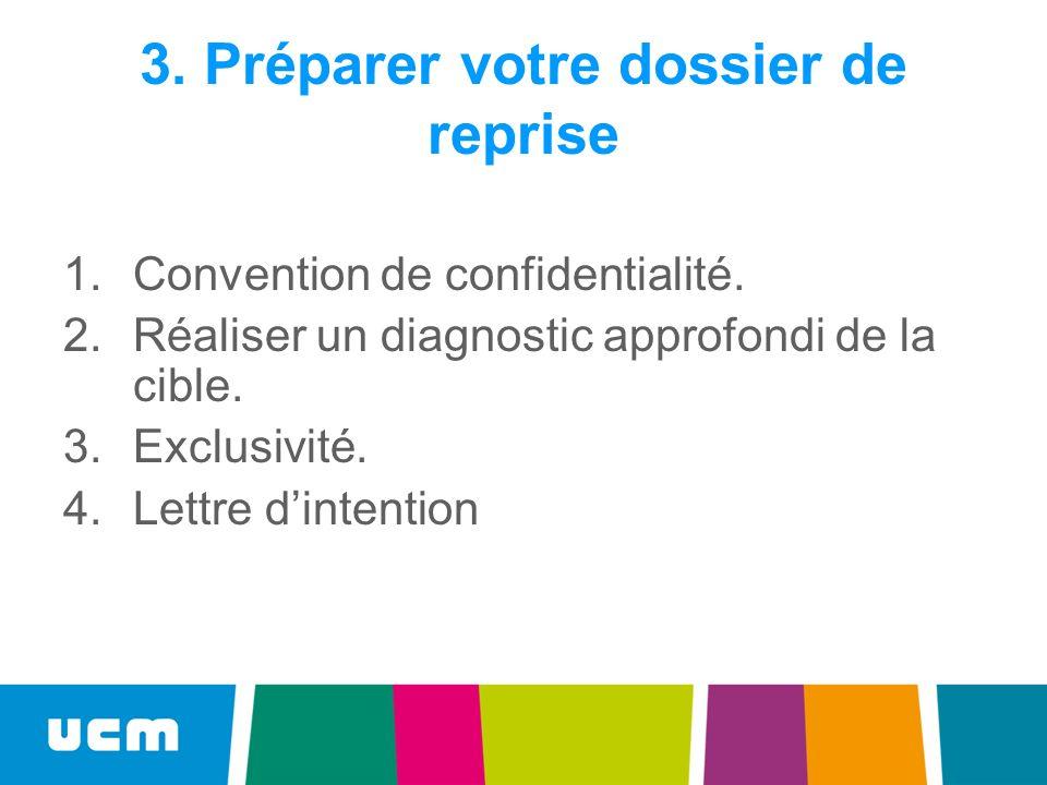 3. Préparer votre dossier de reprise
