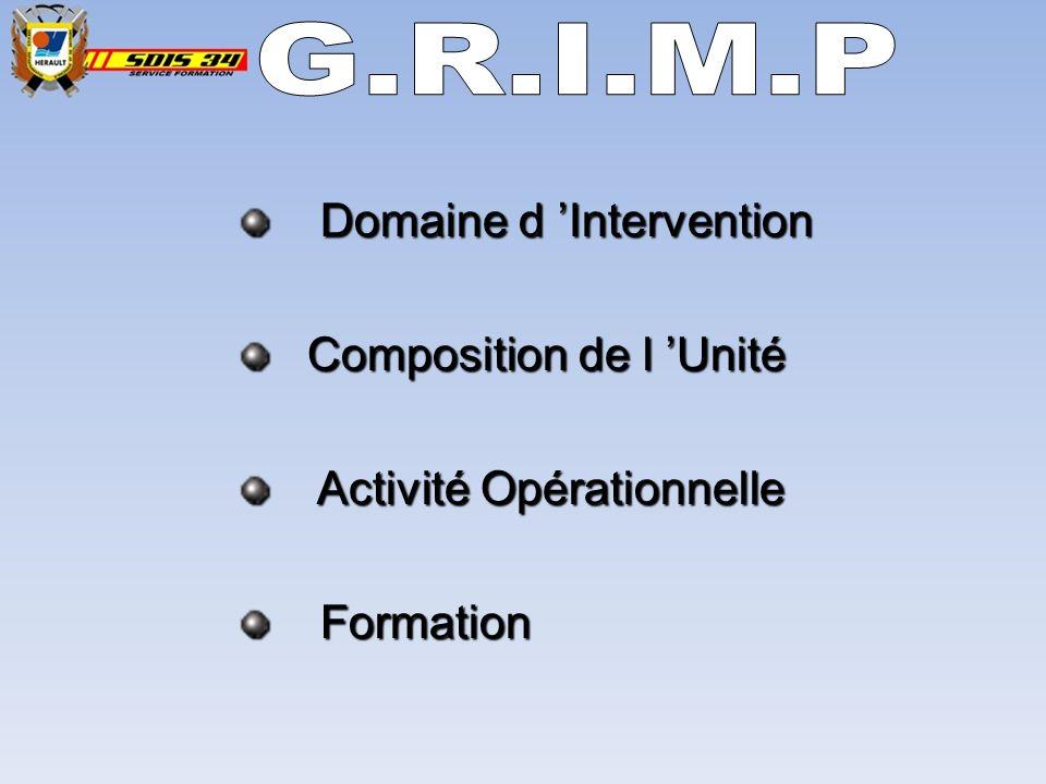 G.R.I.M.P Domaine d 'Intervention Composition de l 'Unité