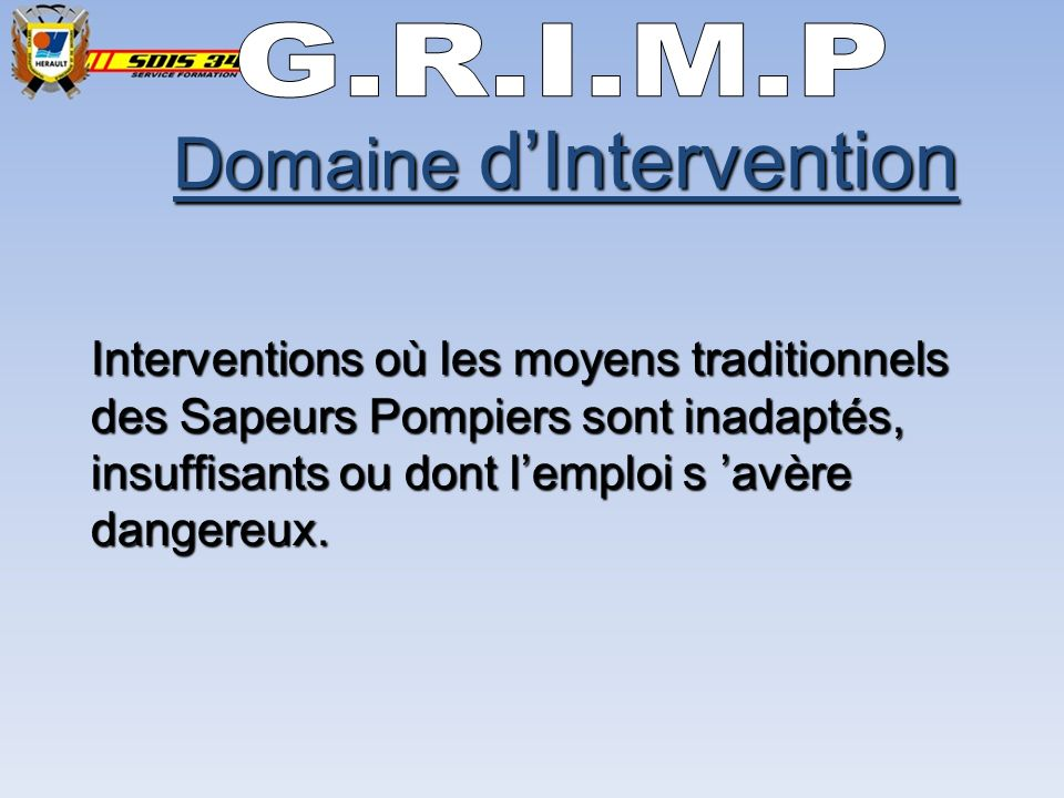 Domaine d'Intervention
