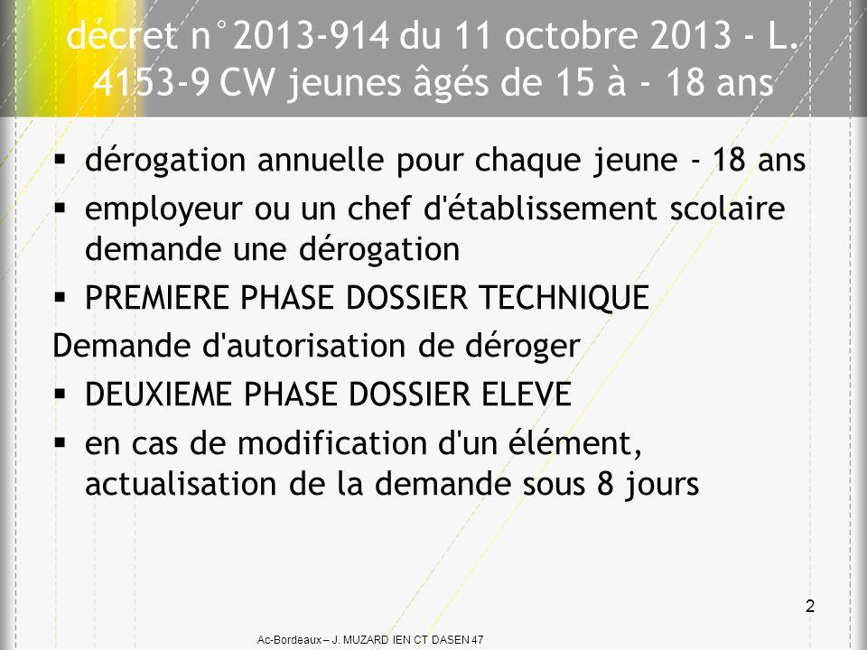 décret n°2013-914 du 11 octobre 2013 - L