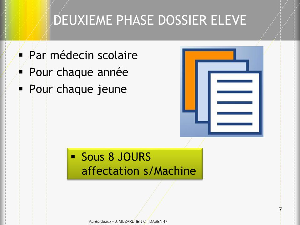DEUXIEME PHASE DOSSIER ELEVE