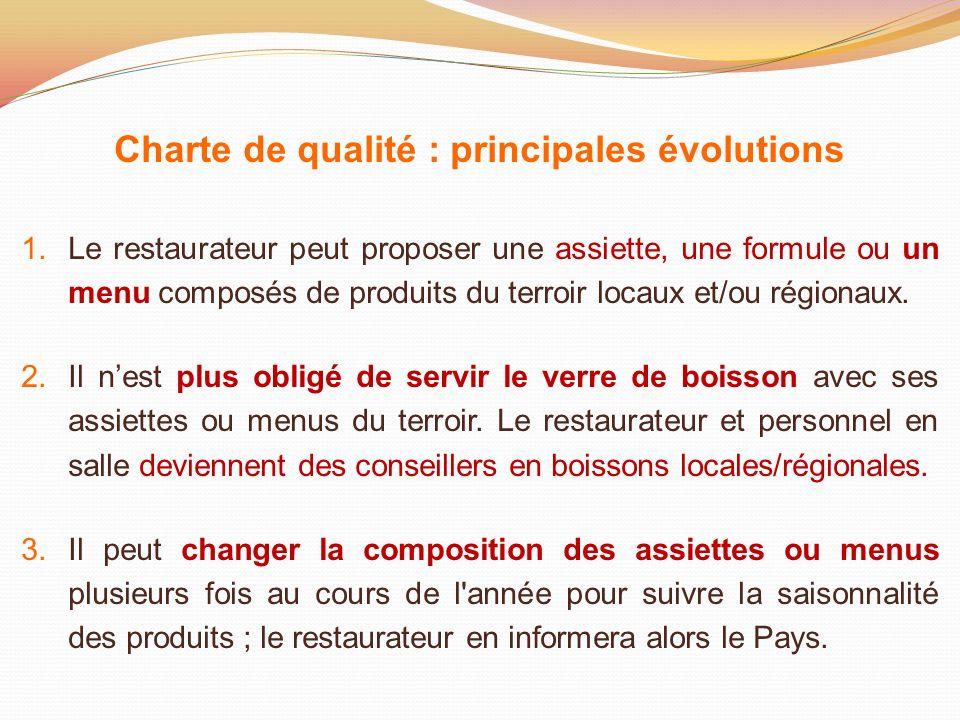 Charte de qualité : principales évolutions