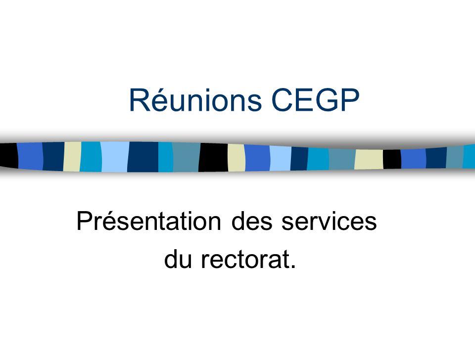 Présentation des services du rectorat.