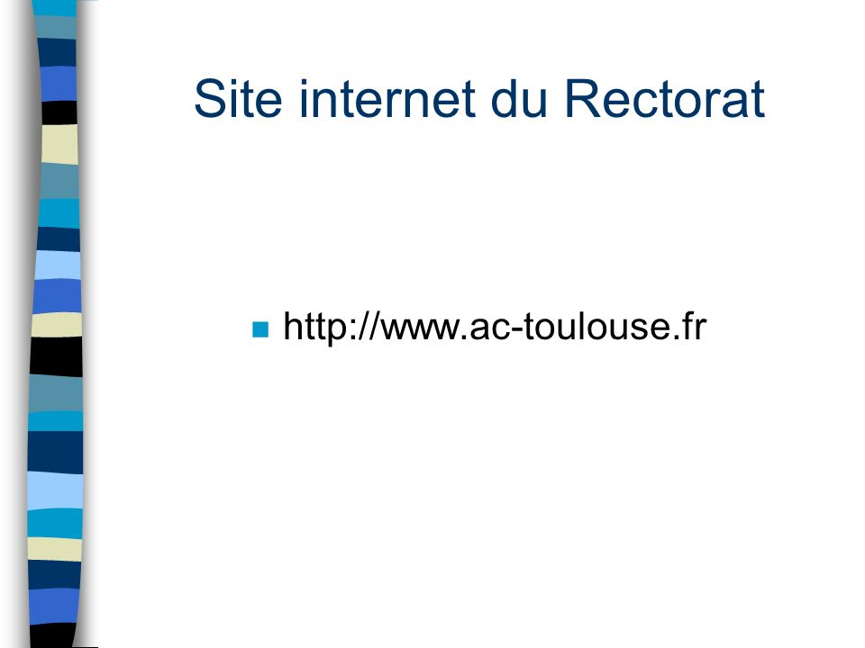 Site internet du Rectorat