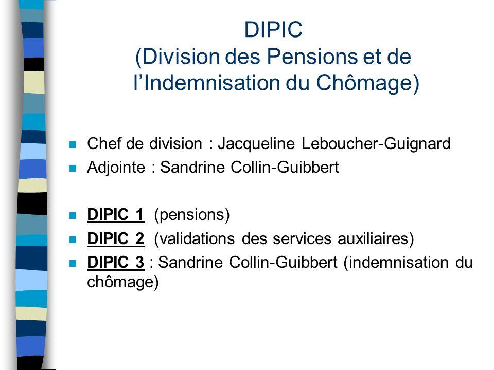 DIPIC (Division des Pensions et de l'Indemnisation du Chômage)
