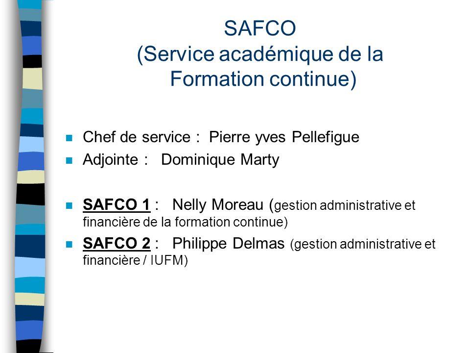 SAFCO (Service académique de la Formation continue)