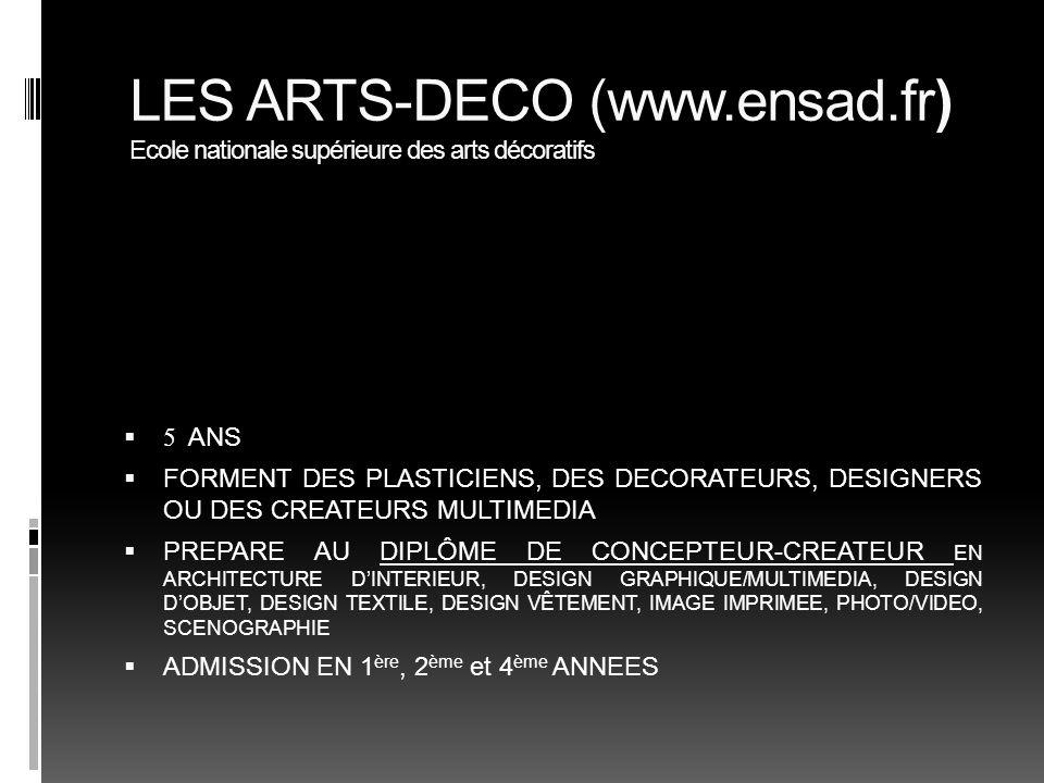 LES ARTS-DECO (www. ensad