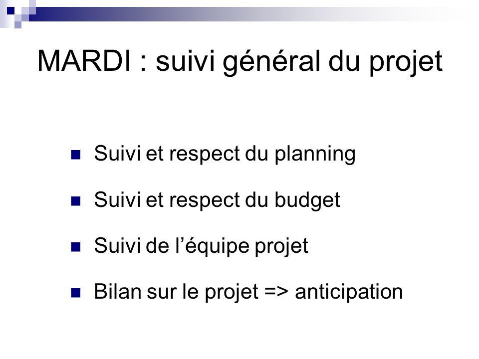 MARDI : suivi général du projet