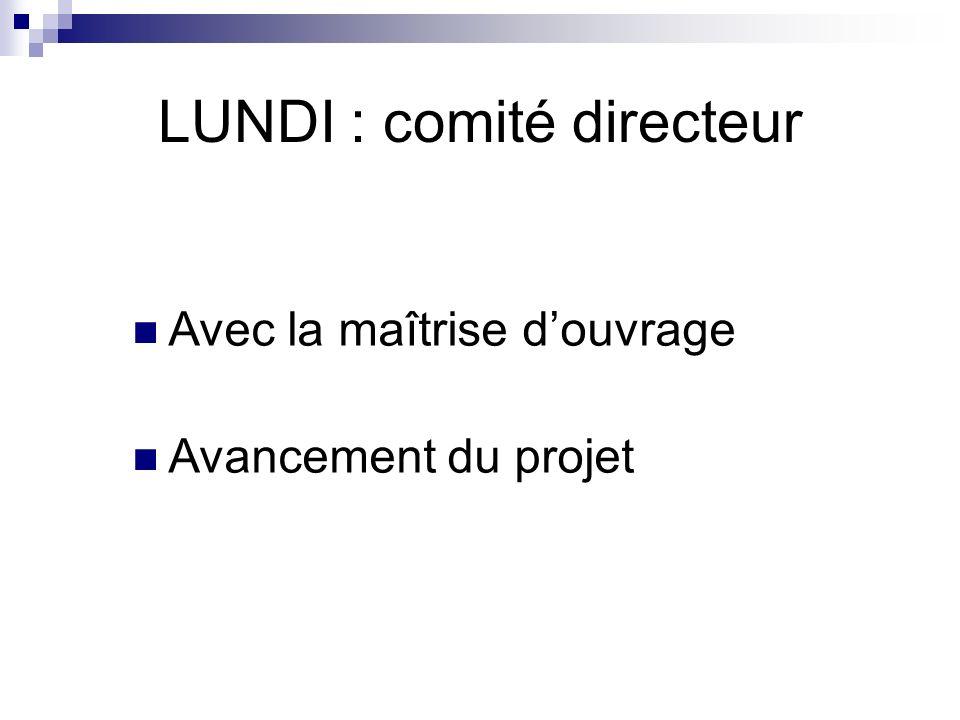 LUNDI : comité directeur