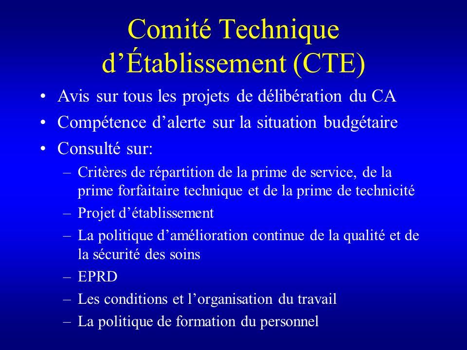 Comité Technique d'Établissement (CTE)