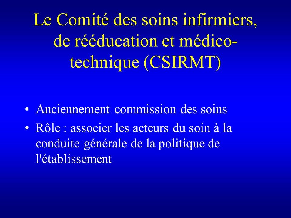 Le Comité des soins infirmiers, de rééducation et médico-technique (CSIRMT)