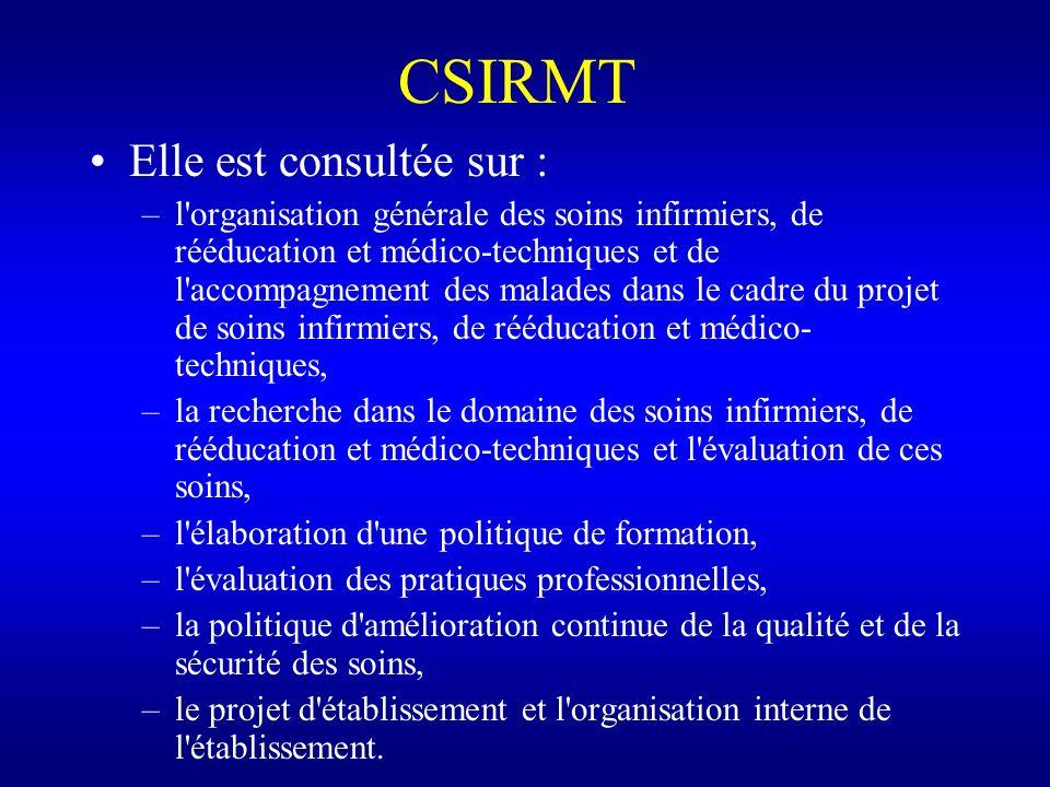 CSIRMT Elle est consultée sur :