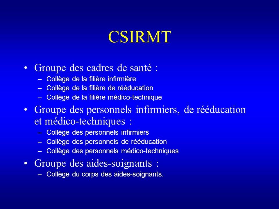 CSIRMT Groupe des cadres de santé :