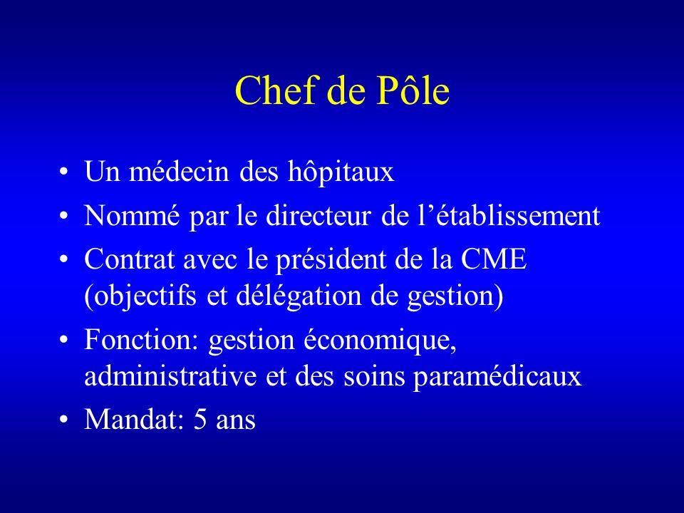Chef de Pôle Un médecin des hôpitaux