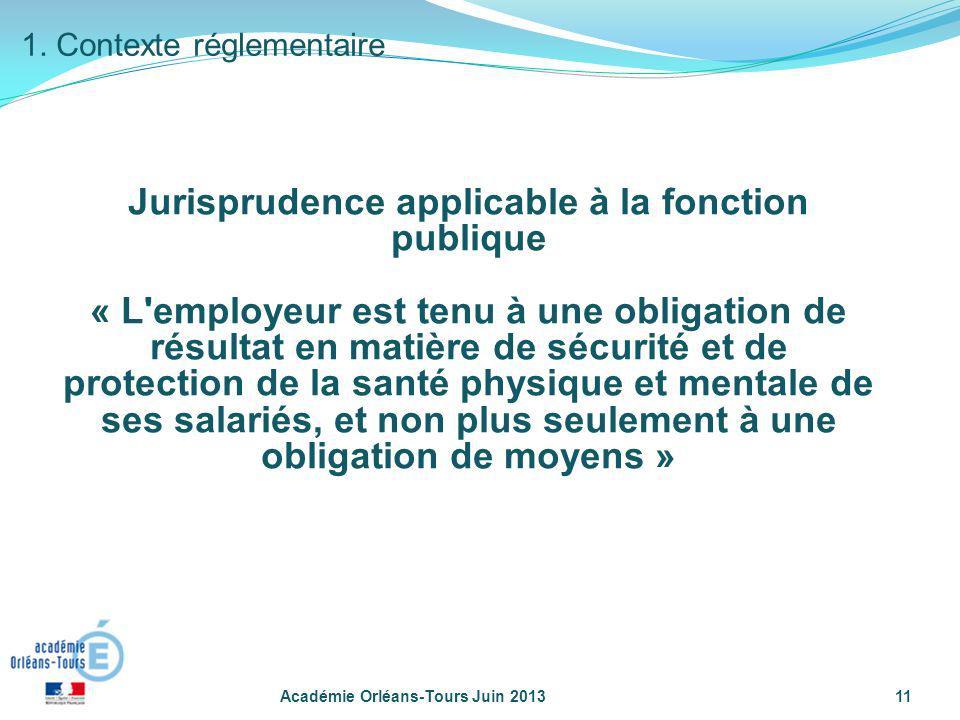 Jurisprudence applicable à la fonction publique