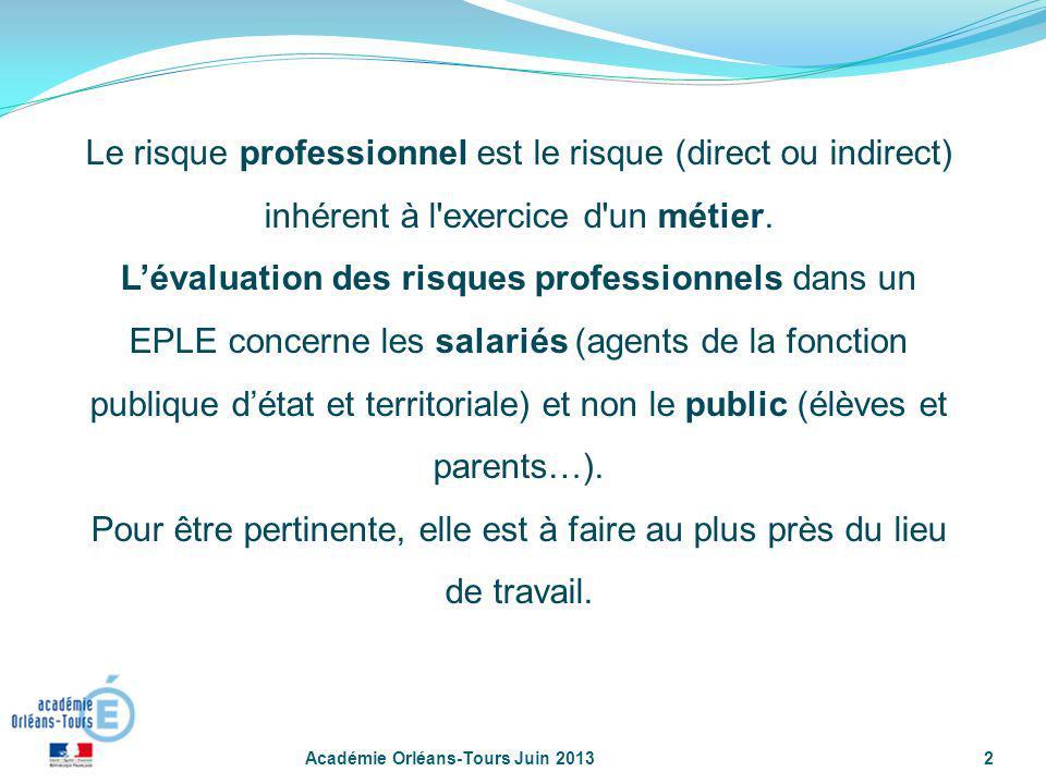 Le risque professionnel est le risque (direct ou indirect) inhérent à l exercice d un métier.