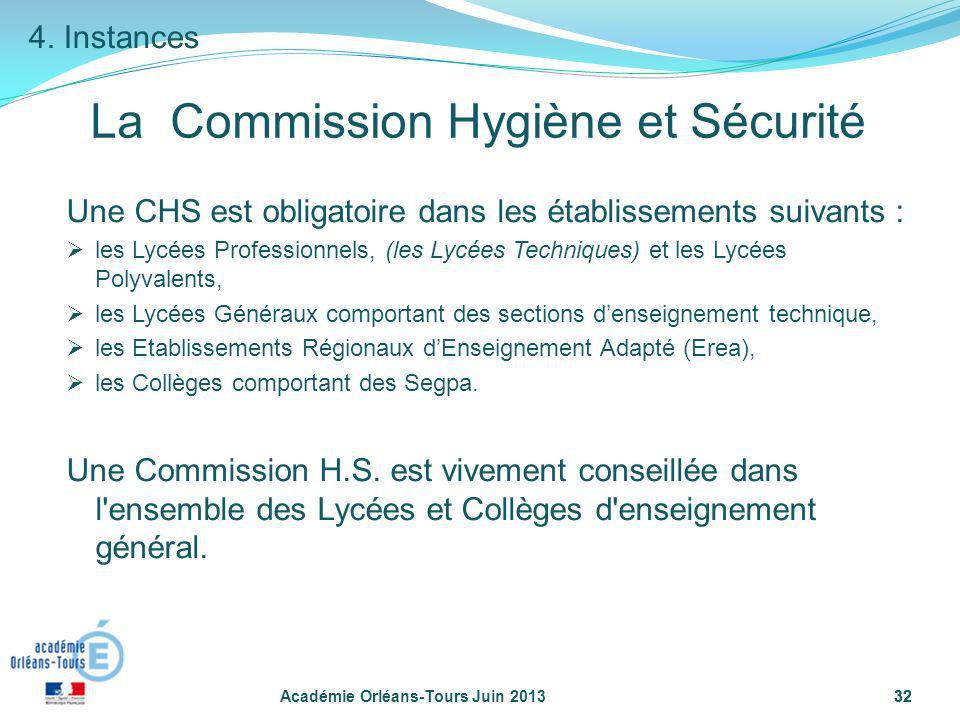 La Commission Hygiène et Sécurité