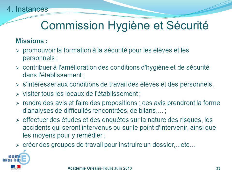 Commission Hygiène et Sécurité