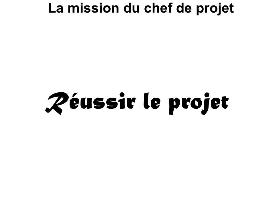 La mission du chef de projet