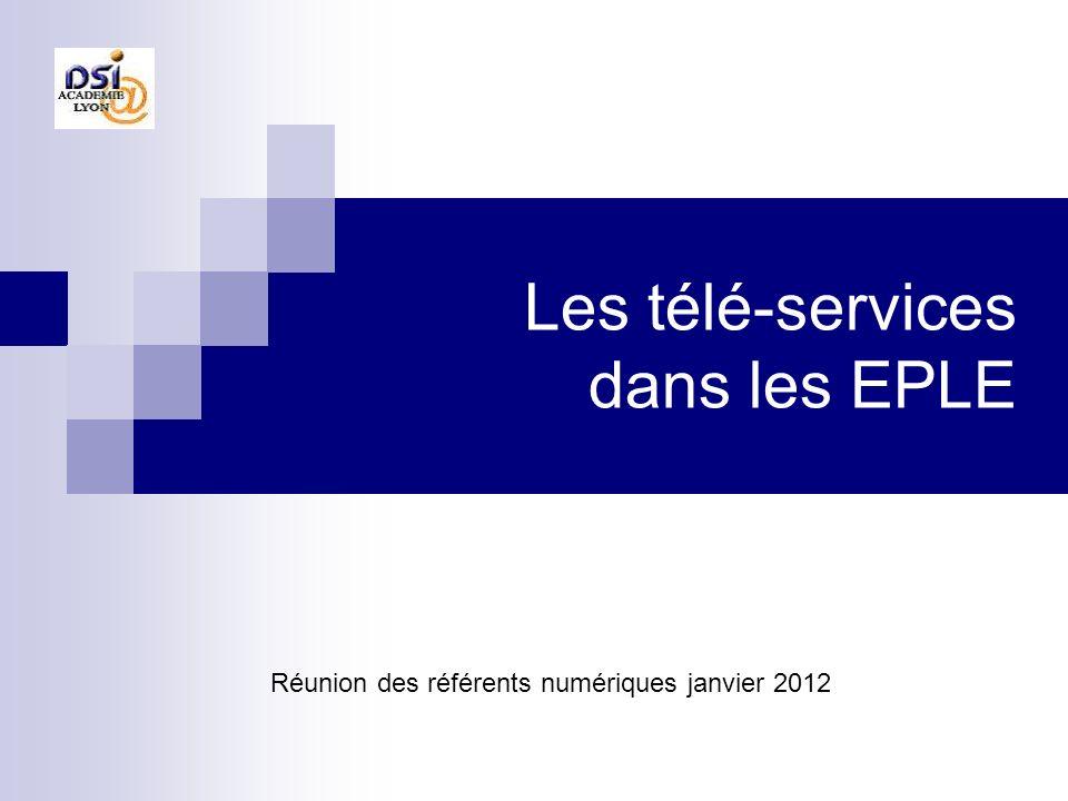 Les télé-services dans les EPLE