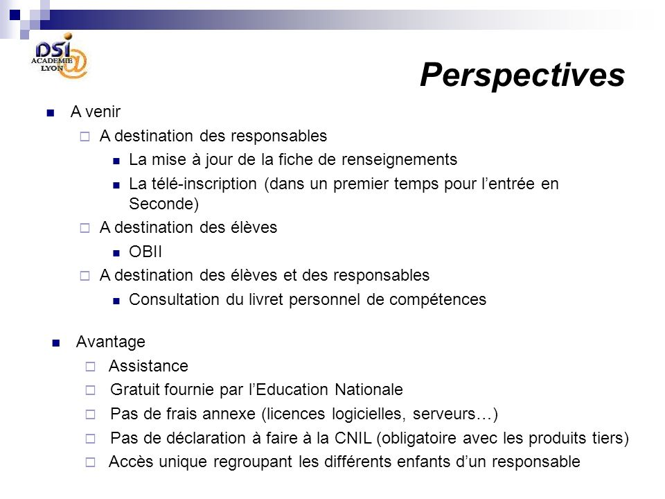 Perspectives A venir A destination des responsables