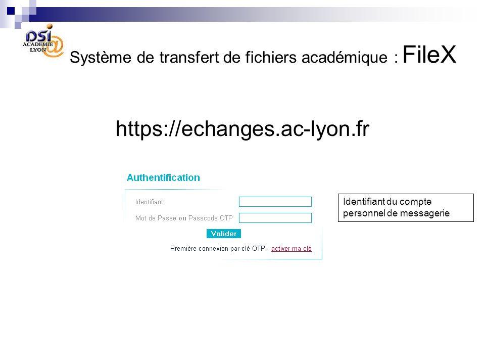 Système de transfert de fichiers académique : FileX