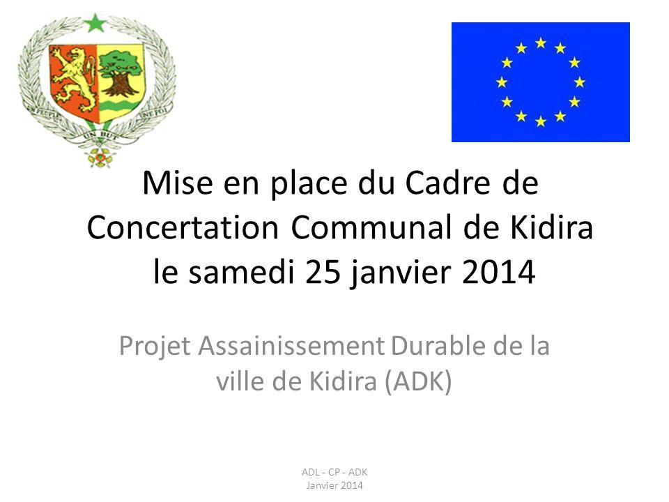 Projet Assainissement Durable de la ville de Kidira (ADK)