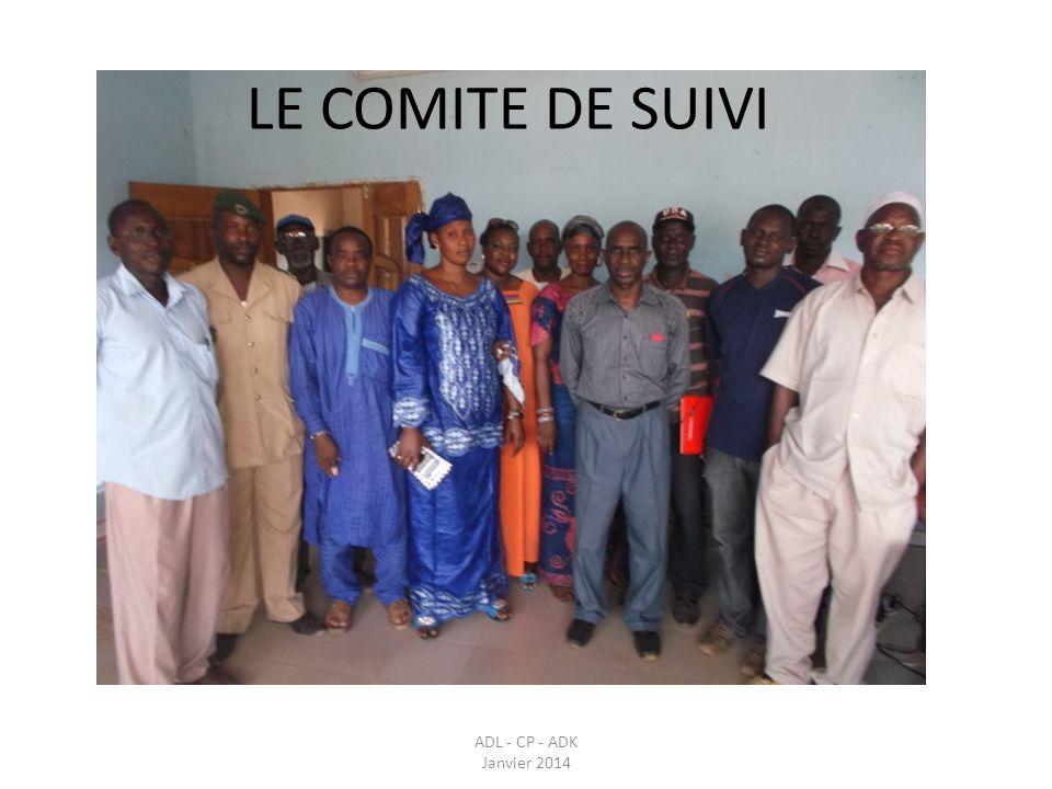 LE COMITE DE SUIVI ADL - CP - ADK Janvier 2014.