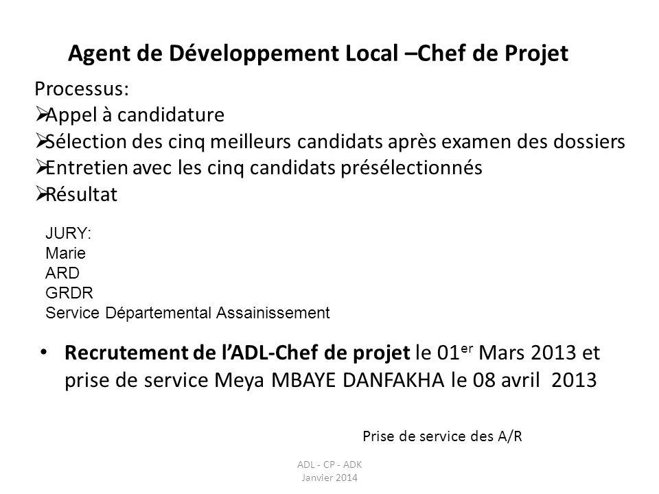 Agent de Développement Local –Chef de Projet