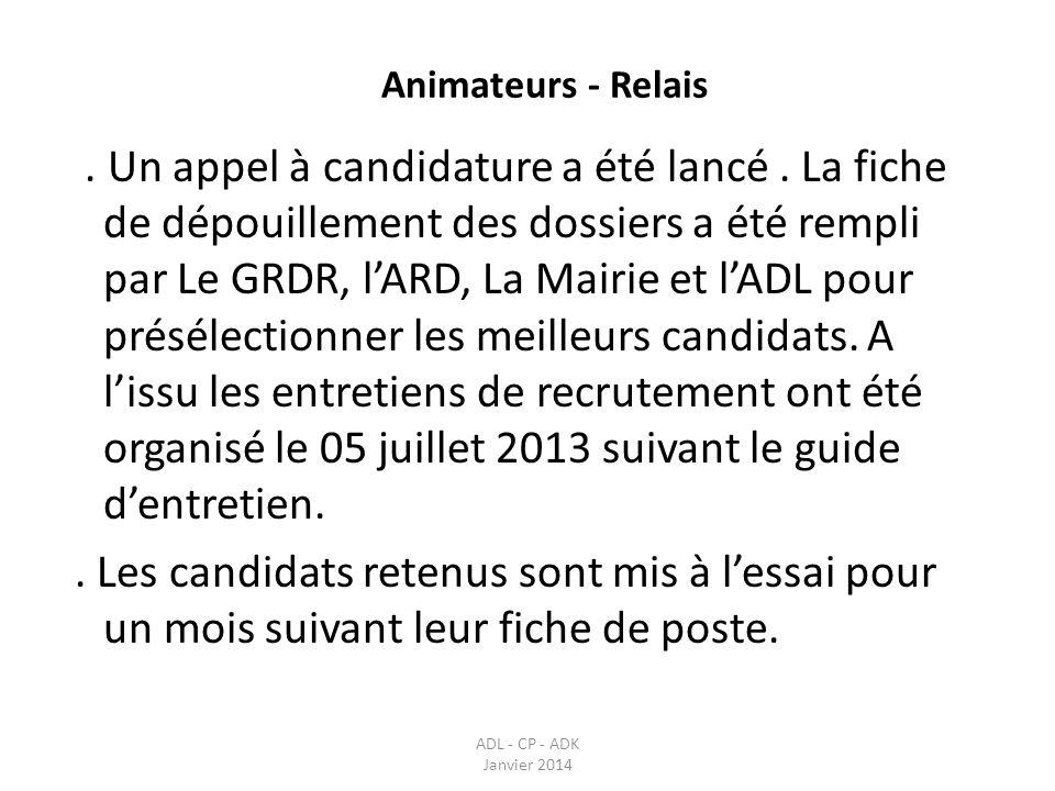 Animateurs - Relais
