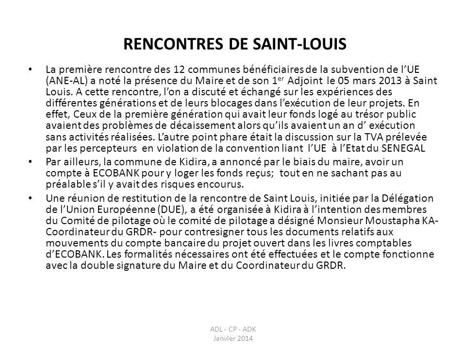 RENCONTRES DE SAINT-LOUIS