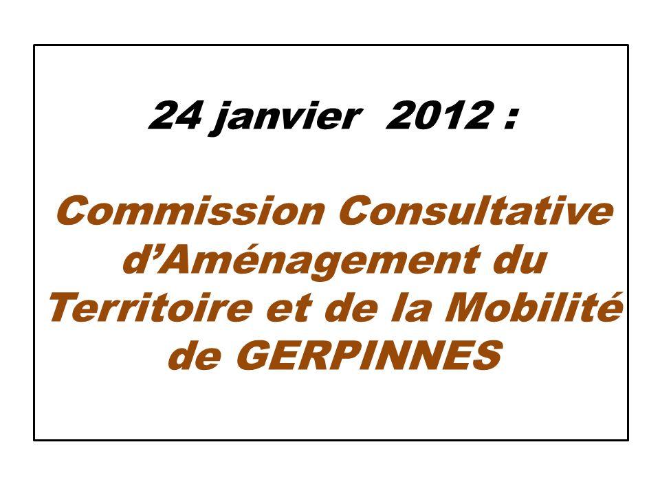 24 janvier 2012 : Commission Consultative d'Aménagement du Territoire et de la Mobilité de GERPINNES