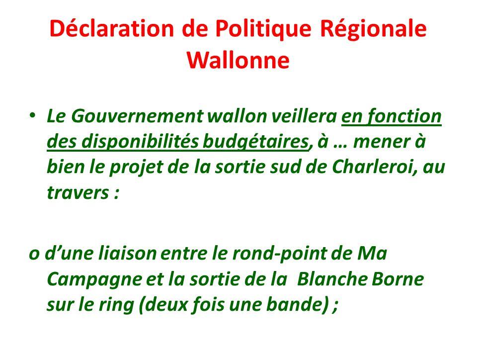 Déclaration de Politique Régionale Wallonne