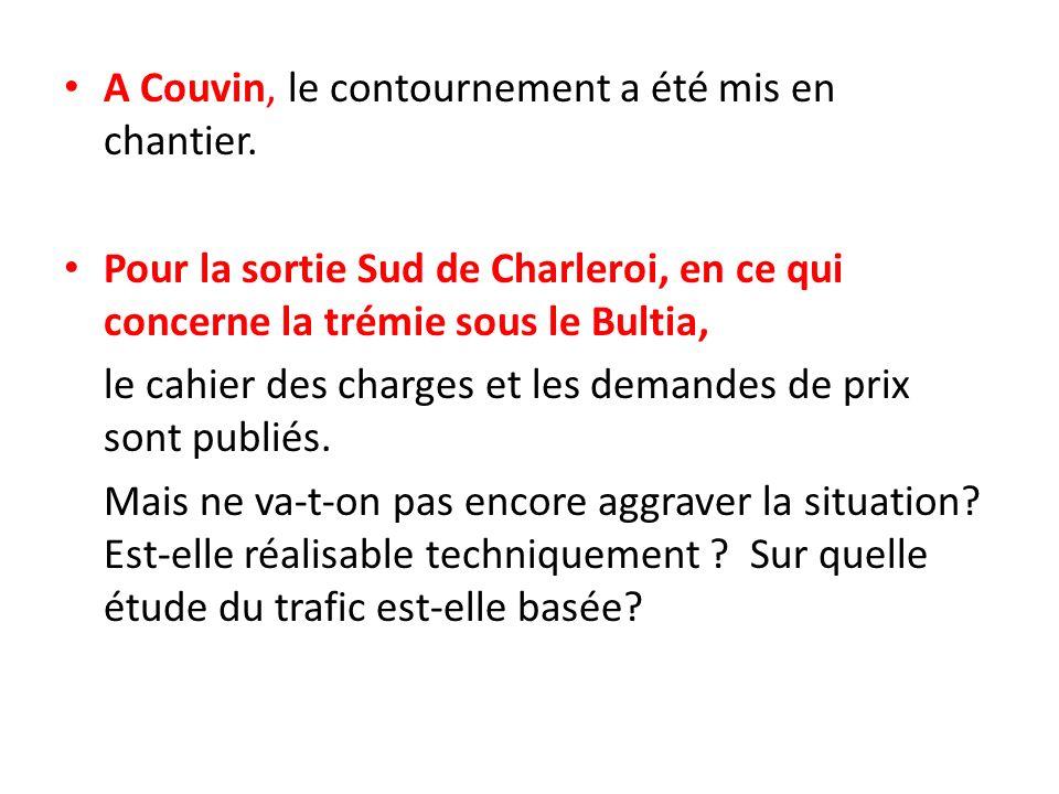 A Couvin, le contournement a été mis en chantier.