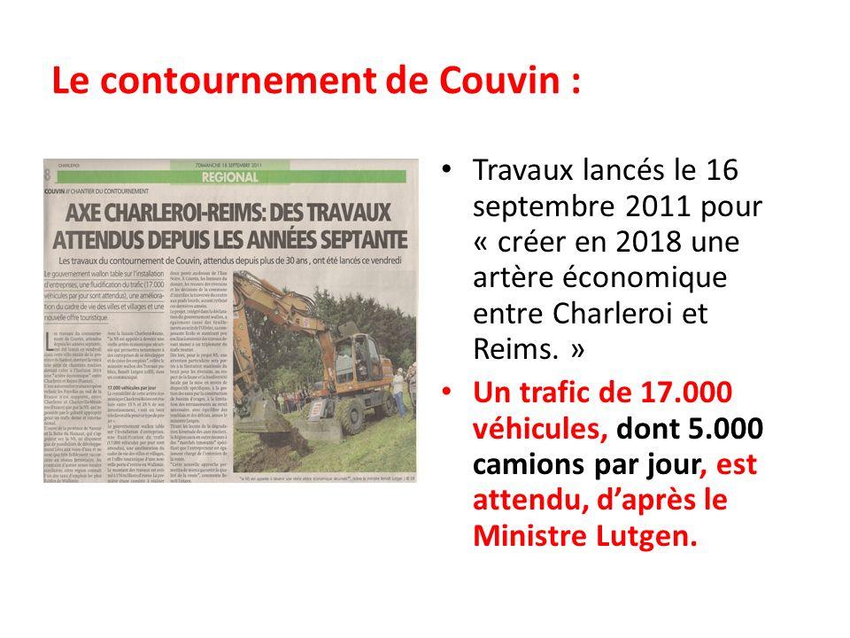 Le contournement de Couvin :